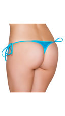 Sexy Side Tie Thong - Turquoise