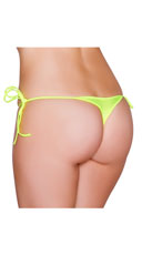 Sexy Side Tie Thong - Yellow