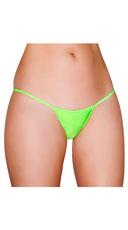 Basic Lycra Thong - Lime Green