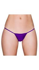 Basic Lycra Thong - Purple