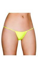 Basic Lycra Thong - Yellow