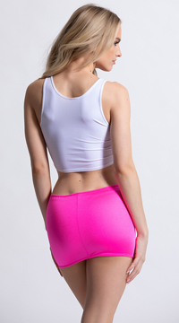 Clingy Lycra Mini Skirt - Hot Pink
