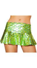 Flared Mermaid Skirt - Sea Foam Green