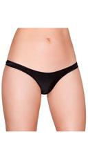 Wide Strap Basic Thong - Black