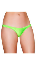 Wide Strap Basic Thong - Lime