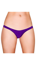 Wide Strap Basic Thong - Purple