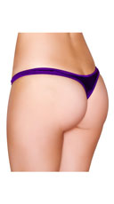 Wide Strap Thong - Purple