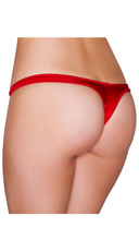 Wide Strap Basic Thong - Red
