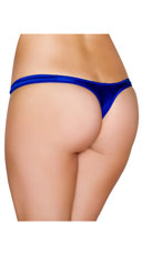 Wide Strap Basic Thong - Royal Blue