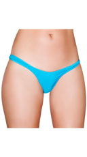 Wide Strap Basic Thong - Turquoise