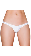 Wide Strap Thong - White