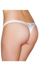 Wide Strap Basic Thong - White