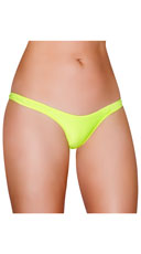 Wide Strap Basic Thong - Yellow