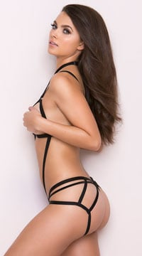 Wrapped In Lust Body Harness - Black