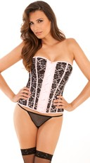 Pink Madame Bustier and G-String Set - Pink