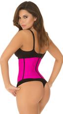 Plus Size Hot Pink Strapless Contour Waist Trainer - Pink