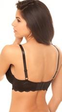 Push Up Lace Seduction Bra - Black