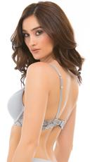 Yandy Grey Belinda Demi Bra - Grey