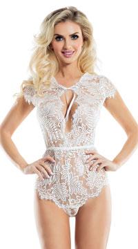 Fern Lace Teddy - White