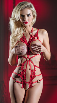 Phoenix Cage Teddy - Red