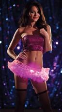 Pink Light Up Mini Petticoat - Pink