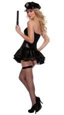 Deluxe Black Sequin Cop Costume