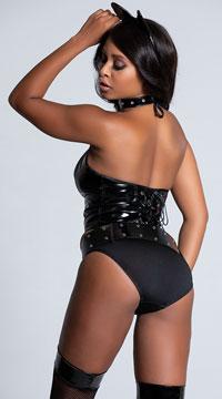 Wild Kitty Lingerie Costume - Black