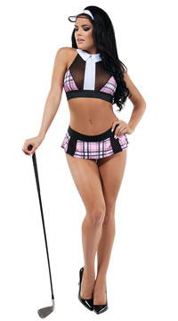 Hole In One Hottie Lingerie Costume - Pink/White