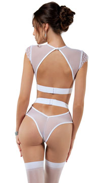 Enticing Bridal Bra Set - White
