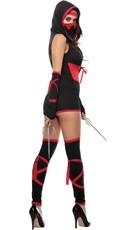 Fierce Red Ninja Costume - Red