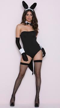 Scandalous Mrs. Tux Bunny Costume - Black