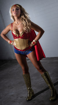 Superhero Babe Costume - as shown