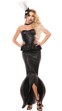 Black Sequin Mermaid Costume
