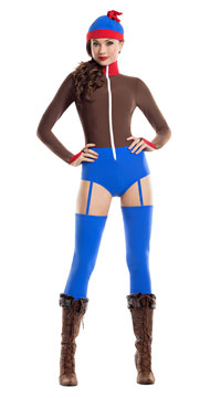 Small Town Stanka Costume - Brown/Blue