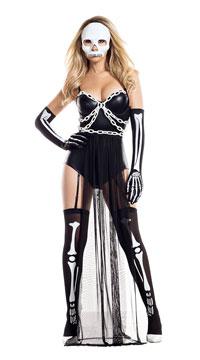 Skeletally Clad Costume - Black