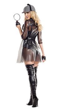Ms. Private Investigator Costume - Black/Silver