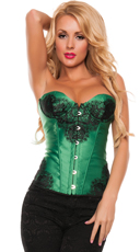 Darling Lacey Corset - Green