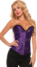 Plus Size Flirty Ruffle Trim Corset - Purple