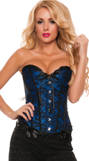 Lucky Lace Sweetheart Corset - Blue