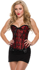Lucky Lace Sweetheart Corset - Red