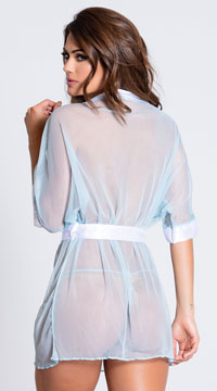 Something Blue Robe Set - Baby Blue