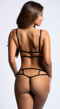 Inviting Bra Set - Black/Nude