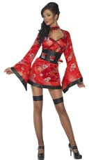 Shot Glass Geisha Girl Costume - Red