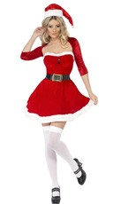 Santa Babe Costume - Red/White