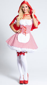 Little Miss Riding Hood Costume - Red/White