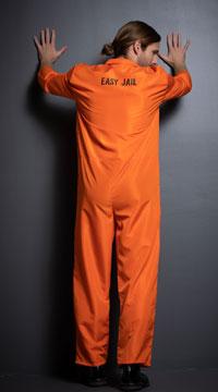 Men's Bad Boy Convict Costume - as shown