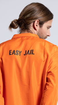 Men's Bad Boy Convict Costume - Orange