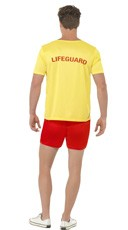 Baywatch Dude Costume - Yellow/Red