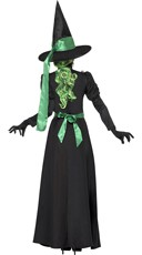 Black and Green Witch Costume - Black
