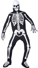 Men's Glow in the Dark Graveyard Skeleton Costume - Black
